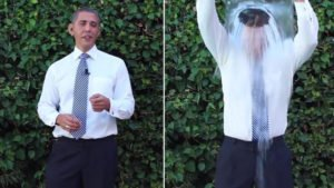Obama ice bucket social media campaign