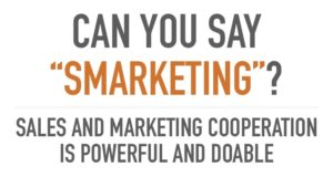 sales and marketing cooperation is do able and powerful