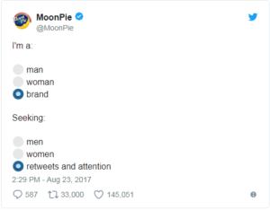 best funniest social media tweets- honest moonpie tweet