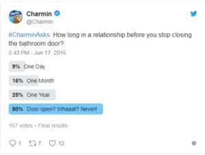 charmin funny social media tweet