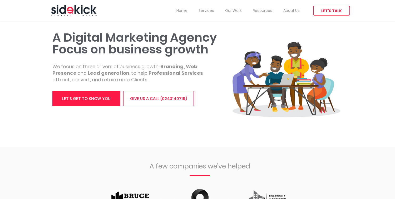 Sidekick Digital Website